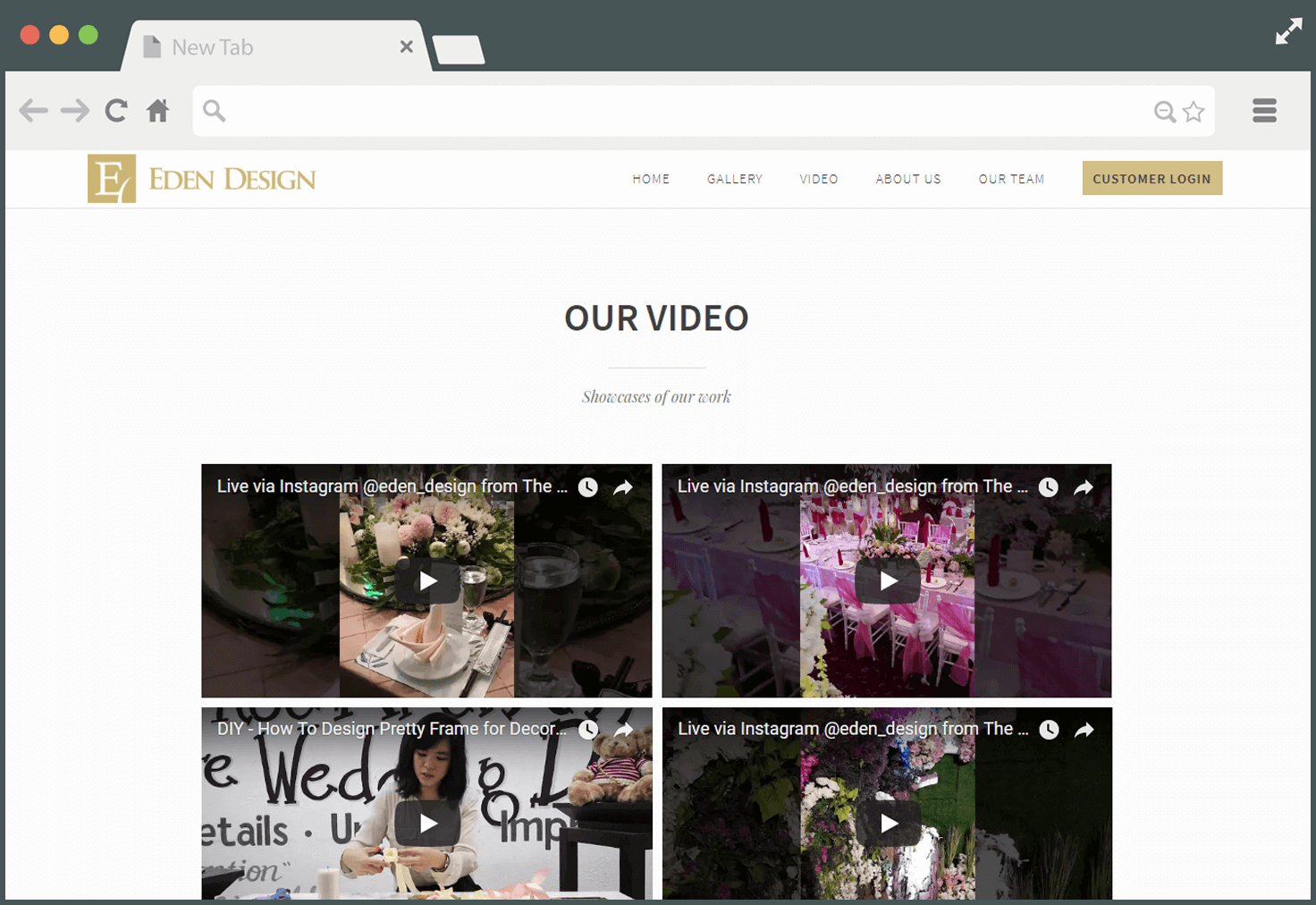 Our Video - Company Profile Website