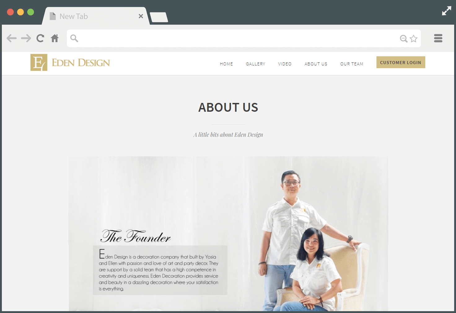 About Us - Company Profile Website