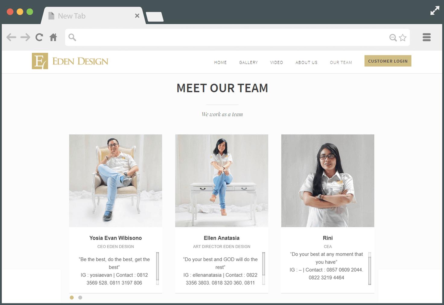 Our Team - Company Profile Website