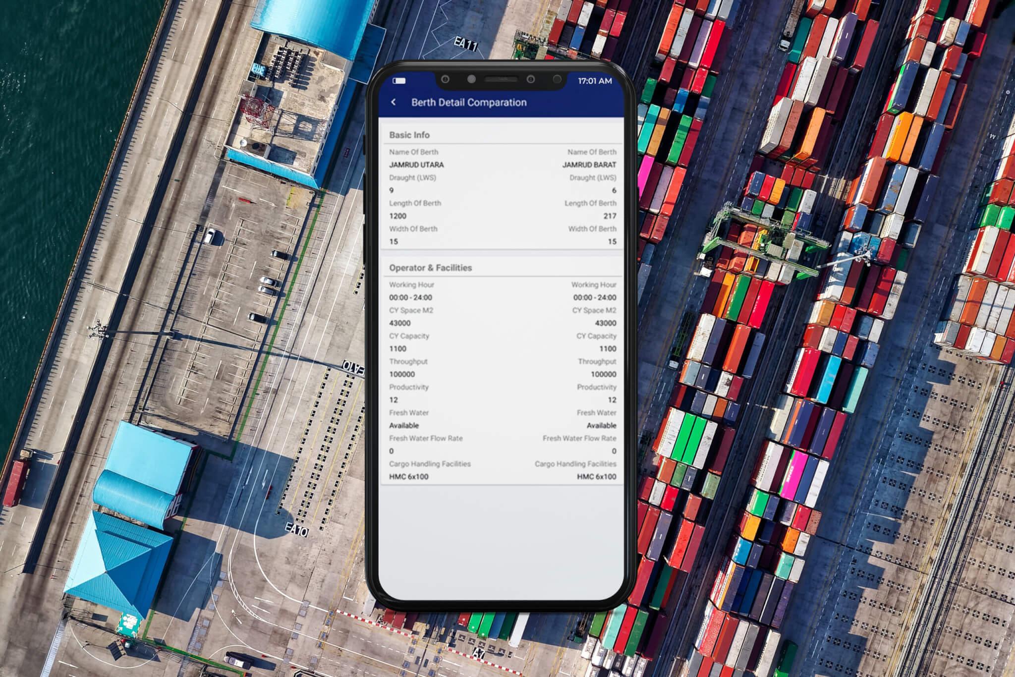 Mertus Port Info App